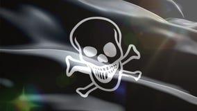 Κύματα σημαιών πειρατών τρισδιάστατα ελεύθερη απεικόνιση δικαιώματος
