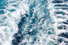 κύματα σκαφών κινηματογρα Στοκ φωτογραφίες με δικαίωμα ελεύθερης χρήσης