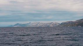 Κύματα στην αδριατική θάλασσα Δαλματία Κροατία απόθεμα βίντεο