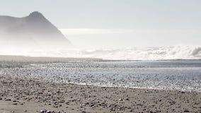 Κύματα στην ακτή του Όρεγκον απόθεμα βίντεο