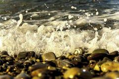 Κύματα στη θάλασσα στην ακτή Στοκ Φωτογραφίες