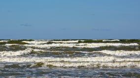 Κύματα της θάλασσας της Βαλτικής, Λετονία Στοκ φωτογραφία με δικαίωμα ελεύθερης χρήσης