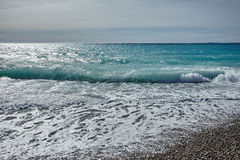 Κύματα της θάλασσας Mediterranian Στοκ Εικόνα