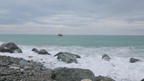 Κύματα της Μαύρης Θάλασσας 006 απόθεμα βίντεο