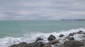 Κύματα της Μαύρης Θάλασσας 010 απόθεμα βίντεο