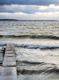 Κύματα του ψεκασμού αφρού Στοκ Εικόνα