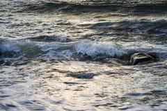 Κύματα του ψεκασμού αφρού Στοκ φωτογραφία με δικαίωμα ελεύθερης χρήσης