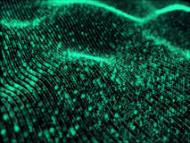 Κύματα των ψηφιακών πληροφοριών στοκ φωτογραφία
