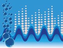 κύματα φυσαλίδων διανυσματική απεικόνιση