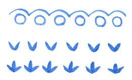 κύματα φύλλων κύκλων Στοκ Φωτογραφίες
