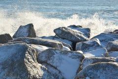 Κύματα χιονιού μια κρύα ημέρα Στοκ εικόνες με δικαίωμα ελεύθερης χρήσης