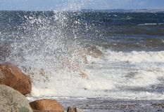 κύματα ψεκασμού Στοκ φωτογραφίες με δικαίωμα ελεύθερης χρήσης