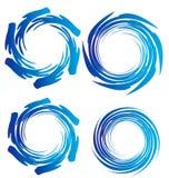 κύματα ύδατος γήινων λογότυπων ελεύθερη απεικόνιση δικαιώματος