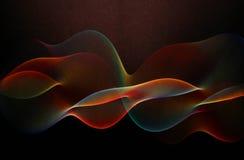 Κύματα Colourd ligth Στοκ φωτογραφία με δικαίωμα ελεύθερης χρήσης