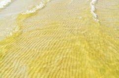 Κύμα άμμου κάτω από το νερό Στοκ Εικόνες