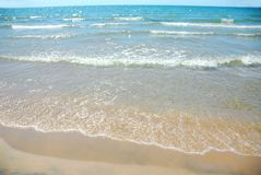κύμα άμμου παραλιών Στοκ Φωτογραφία
