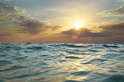 κύμα ηλιοβασιλέματος φύσης στοιχείων σχεδίου σύνθεσης Στοκ Φωτογραφία