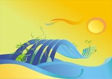 κύμα θάλασσας απεικόνιση αποθεμάτων