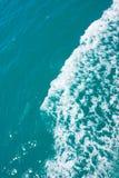 Κύμα θάλασσας στο Κόλπο, κινηματογράφηση σε πρώτο πλάνο Στοκ Φωτογραφία