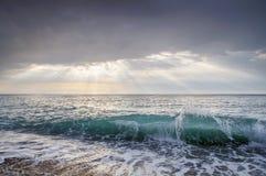 κύμα θαλασσοταραχών συντριβών Τοπίο Στοκ Εικόνα