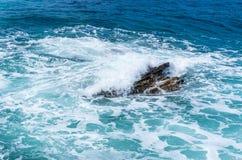Κύμα θύελλας στη θάλασσα Στοκ Εικόνες