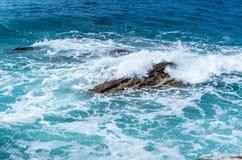 Κύμα θύελλας στη θάλασσα Στοκ εικόνες με δικαίωμα ελεύθερης χρήσης