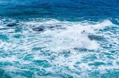 Κύμα θύελλας στη θάλασσα Στοκ εικόνα με δικαίωμα ελεύθερης χρήσης