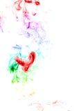 κύμα καπνού καρδιών μορφής Στοκ Φωτογραφίες