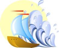 κύμα σκαφών Στοκ εικόνα με δικαίωμα ελεύθερης χρήσης