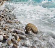Κύμα στην αδριατική θάλασσα Στοκ Φωτογραφία
