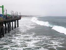 Κύμα της παραλίας της Σάντα Μόνικα στοκ εικόνα με δικαίωμα ελεύθερης χρήσης