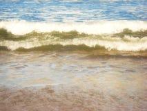 Κύμα του Ατλαντικού Ωκεανού στην παραλία στοκ εικόνες