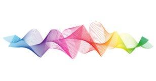 Κύμα των πολλών χρωματισμένων γραμμών Αφηρημένα κυματιστά λωρίδες σε ένα άσπρο υπόβαθρο που απομονώνεται ελεύθερη απεικόνιση δικαιώματος