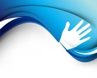 κύμα χεριών έννοιας ανασκόπ&e διανυσματική απεικόνιση