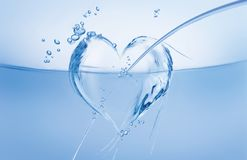 κύμα ύδατος καρδιών στοκ φωτογραφίες με δικαίωμα ελεύθερης χρήσης