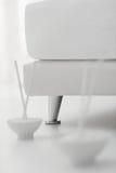 Κύπελλο στο ρύζι στο πάτωμα κρεβατοκάμαρων Στοκ φωτογραφία με δικαίωμα ελεύθερης χρήσης