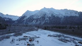 Κύπελλο της Alice υποστηριγμάτων της Αλάσκας απόθεμα βίντεο