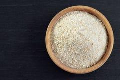 Κύπελλο crumbs ψωμιού, τοπ άποψη Στοκ Εικόνες