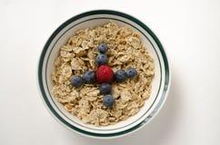 Κύπελλο δημητριακών με τα bluberries και τη φράουλα Στοκ εικόνα με δικαίωμα ελεύθερης χρήσης