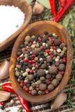 Κύπελλο με τα ανάμεικτα καυτά πιπέρια, τοπ άποψη Στοκ φωτογραφία με δικαίωμα ελεύθερης χρήσης