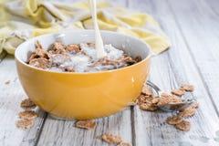 Κύπελλο με τα δημητριακά και το γάλα στοκ εικόνα με δικαίωμα ελεύθερης χρήσης