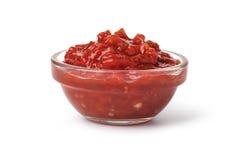 Κύπελλο με τη σάλτσα salsa στοκ φωτογραφία με δικαίωμα ελεύθερης χρήσης