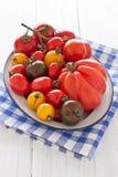Κύπελλο με τις ζωηρόχρωμες ντομάτες Στοκ εικόνα με δικαίωμα ελεύθερης χρήσης