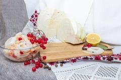 Κύπελλο με sauerkraut Στοκ εικόνες με δικαίωμα ελεύθερης χρήσης