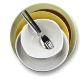 Κύπελλο πιάτων σε ένα άσπρο υπόβαθρο στοκ φωτογραφία με δικαίωμα ελεύθερης χρήσης