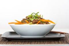 Κύπελλο ρυζιού βόειου κρέατος Στοκ Εικόνες