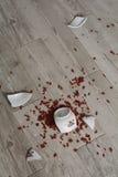 Κύπελλο στο πάτωμα Στοκ Εικόνες
