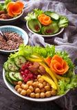 Κύπελλο του Βούδα υγιής χορτοφάγος τροφίμων Στοκ Εικόνες
