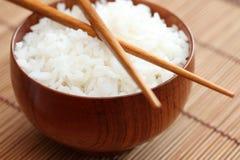 Κύπελλο του ρυζιού με Chopsticks Στοκ Εικόνα