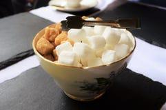 Κύπελλο τσαγιού και ζάχαρης στην Αγγλία Στοκ εικόνα με δικαίωμα ελεύθερης χρήσης